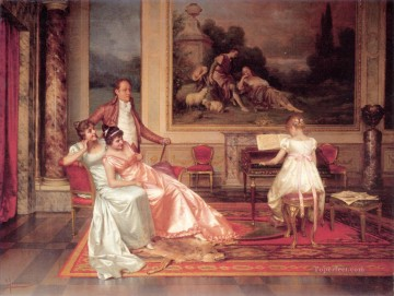The Piano Recital lady Vittorio Reggianini Decor Art